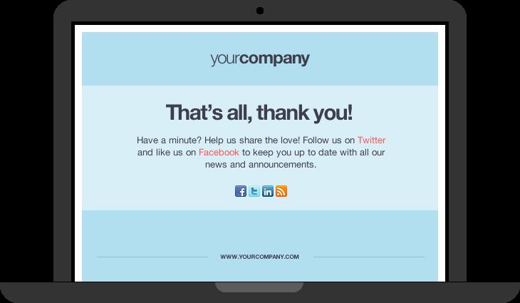 thankyou page