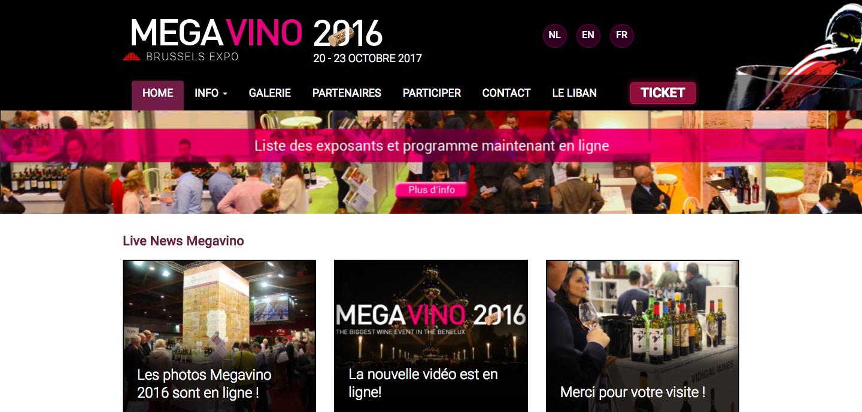 Capture d'écran de Megavino 2016