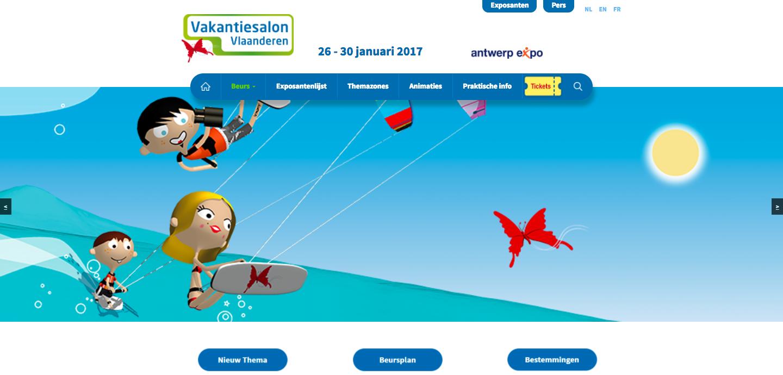 Capture d'écran de vakantiesalon-vlaanderen-com